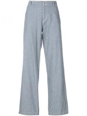 Coryn striped wide-leg trousers A.P.C.. Цвет: синий