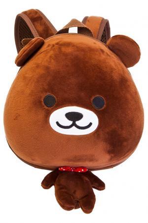 Ранец детский «мишутка» BRADEX. Цвет: коричневый