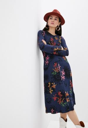 Платье Desigual. Цвет: синий