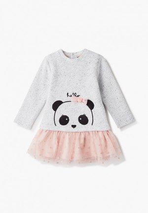 Платье Losan. Цвет: серый