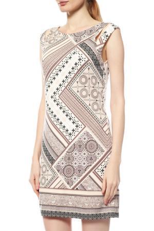 Платье Comma. Цвет: светло-бежевый