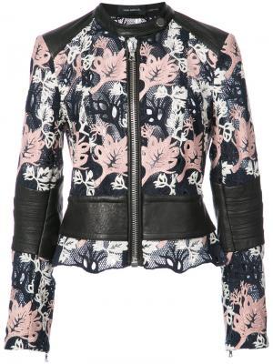 Куртка с вышивкой Yigal Azrouel. Цвет: чёрный