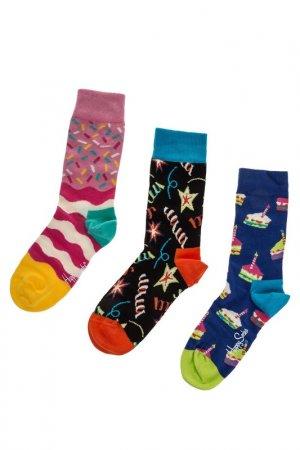 Комплект носков HAPPY SOCKS. Цвет: молочный