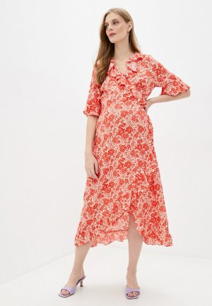 Платье Topshop Maternity. Цвет: красный
