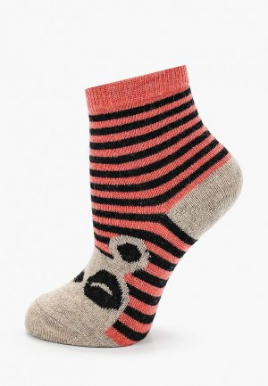 Носки Sela. Цвет: коралловый