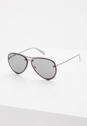 Очки солнцезащитные Alexander McQueen. Цвет: серый