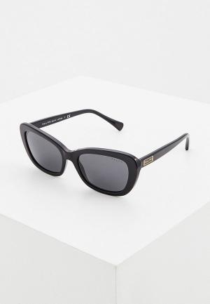 Очки солнцезащитные Ralph Lauren. Цвет: черный
