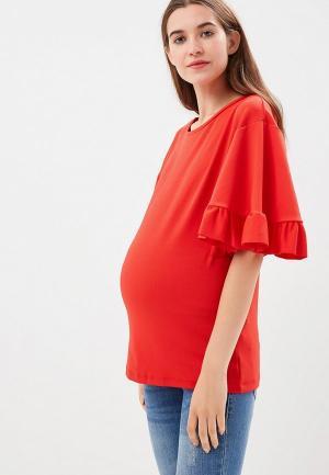 Блуза Mamalicious. Цвет: красный