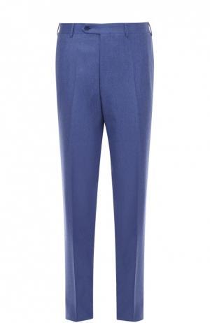 Классические шерстяные брюки Canali. Цвет: голубой