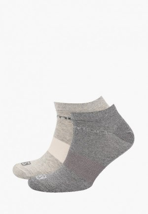 Носки 2 пары Salomon. Цвет: серый