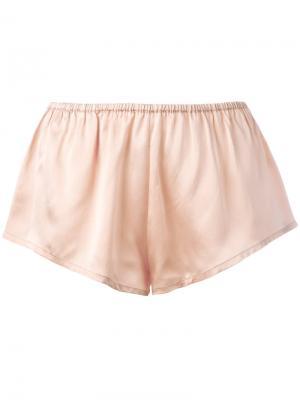 Пижамные шорты Asceno. Цвет: розовый и фиолетовый