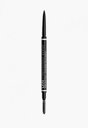 Карандаш для бровей Nyx Professional Makeup. Цвет: черный