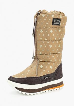 Дутики King Boots. Цвет: бежевый