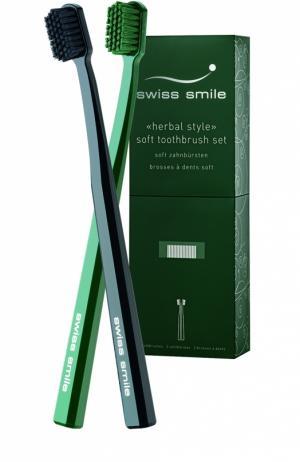 Набор мягких зубных щёток Basel Swiss Smile. Цвет: бесцветный