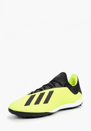 Шиповки adidas. Цвет: зеленый