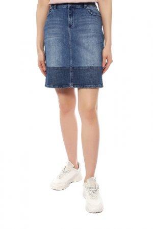 Юбка джинсовая KAFFE. Цвет: синий