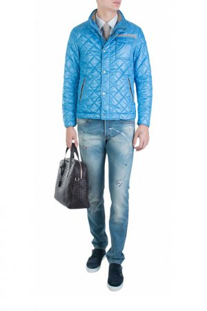 Куртка Mabrun. Цвет: голубой