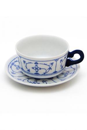 Чашка с блюдцем Blue Touch KAHLA. Цвет: белый