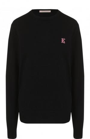 Однотонный кашемировый пуловер с круглым вырезом Christopher Kane. Цвет: черный