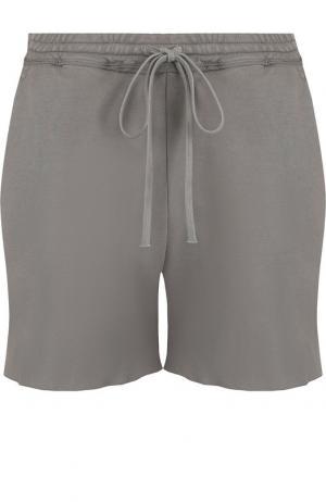 Однотонные хлопковый шорты с эластичным поясом Roque. Цвет: серый