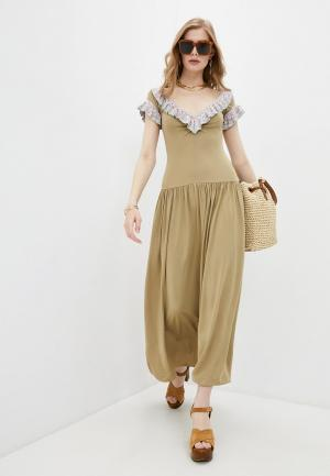 Платье M Missoni. Цвет: бежевый