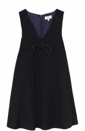 Платье с завышенной талией и бантом Aletta. Цвет: темно-синий