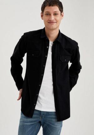 Рубашка джинсовая DeFacto. Цвет: черный