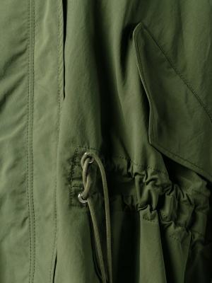 Пальто-кейп Pissenlit Moncler. Цвет: зелёный
