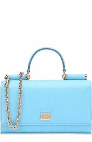 Сумка Sicily Von на цепочке Dolce & Gabbana. Цвет: голубой