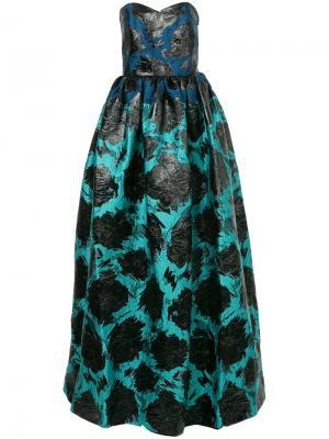 Вечернее платье-бюстье с рисунком Paule Ka. Цвет: чёрный