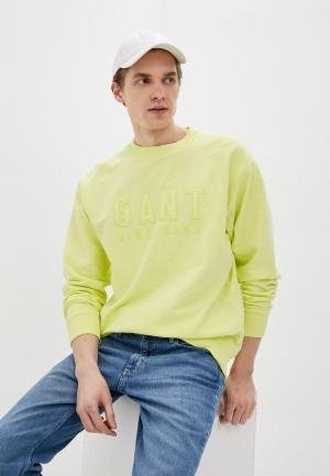 Свитшот Gant. Цвет: зеленый