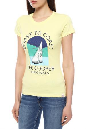 Футболка LEE COOPER. Цвет: iced lemon