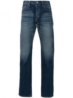 Прямые классические джинсы Edwin. Цвет: синий