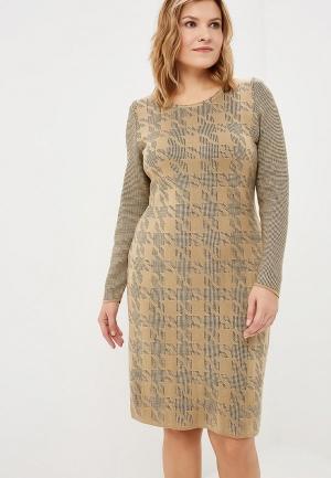 Платье Milana Style. Цвет: бежевый