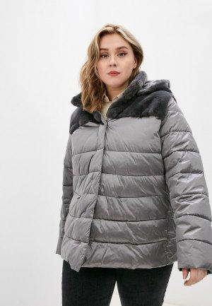 Куртка утепленная Persona by Marina Rinaldi. Цвет: серый