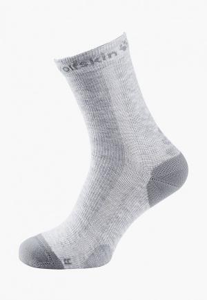 Носки Jack Wolfskin. Цвет: серый