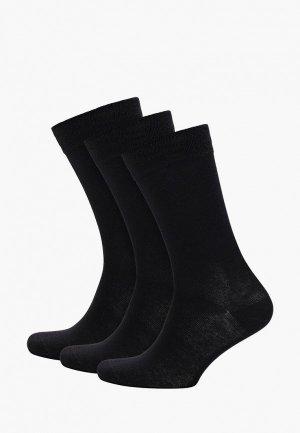 Носки 3 пары DIM. Цвет: черный