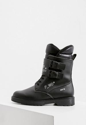 Ботинки F_WD. Цвет: черный