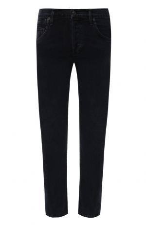 Укороченные джинсы с потертостями Citizens Of Humanity. Цвет: черный