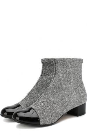 Текстильные ботинки с кожаной отделкой Missouri. Цвет: серебряный