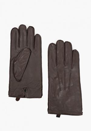 Перчатки Selected Homme. Цвет: коричневый
