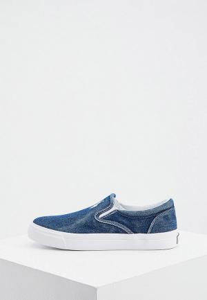 Слипоны Polo Ralph Lauren. Цвет: синий