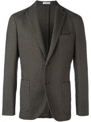 Пиджак с застежкой на две пуговицы Boglioli. Цвет: чёрный