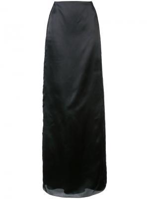 Юбка макси с кружевными вставками Marchesa. Цвет: чёрный