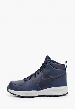 Ботинки Nike. Цвет: синий