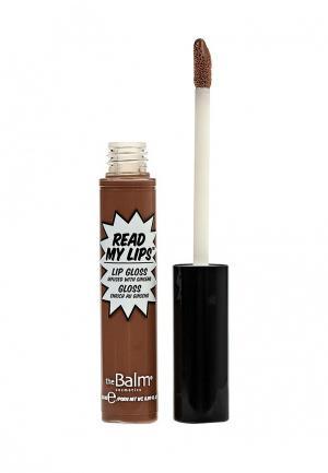 Блеск для губ theBalm. Цвет: коричневый