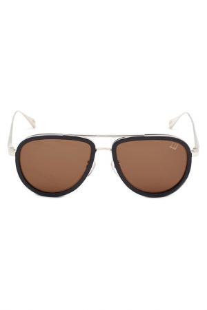 Солнцезащитные очки DUNHILL. Цвет: черный