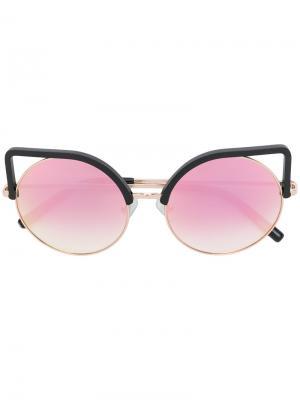 Солнцезащитные очки в оправе кошачий глаз Matthew Williamson. Цвет: металлический
