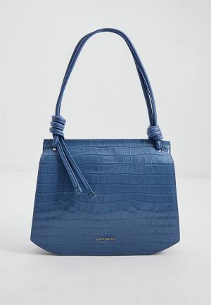 Сумка Coccinelle. Цвет: голубой