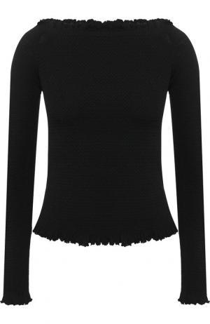 Вязаный пуловер с открытыми плечами Altuzarra. Цвет: черный